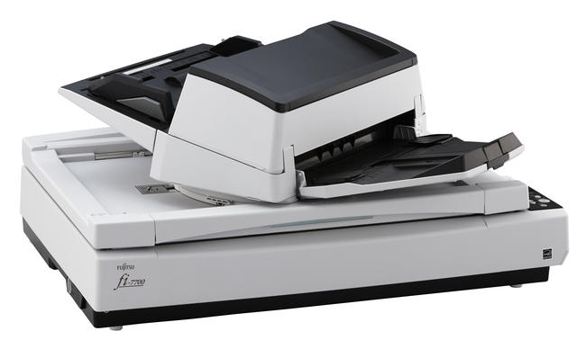Fujitsu fi 7700 duplex a3 document scanner with flatbed for Heavy duty document scanner